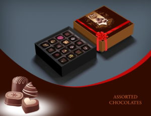 Assorted Handmade Chocolates Personalized Boxes
