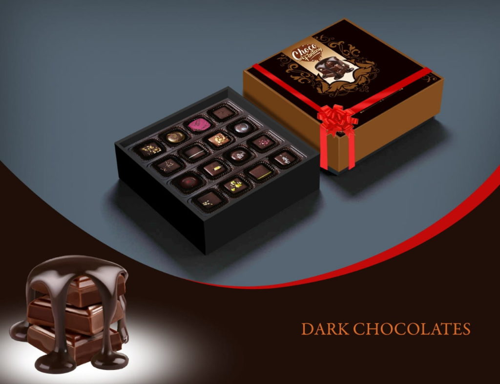 Handmade Dark Chocolates Boxes