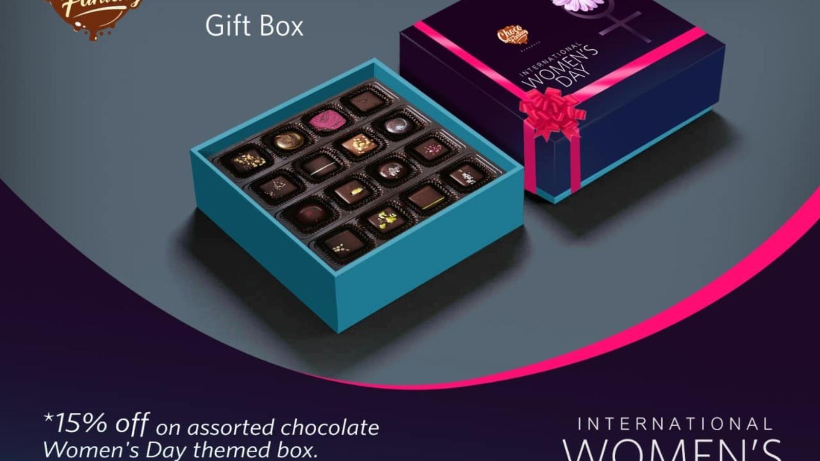 handmade chocolate gifts for womens day kolkata