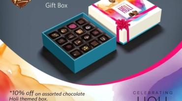Happy Holi chocolate gift box in kolkata by Choco Fantasy